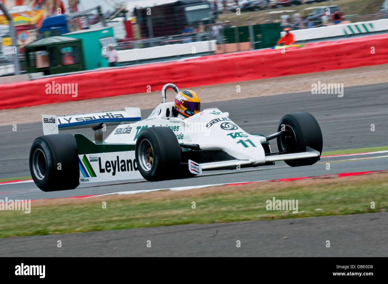 Christophe D'Ansembourg in a Williams FW07C at the 2013 Silverstone Classic FIA Masters Historic Formula 1 race - Stock Image