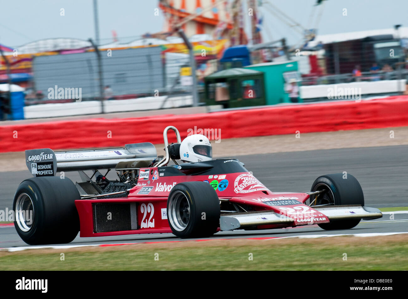 James HAGAN in a Ensign MN177 during the 2013 Silverstone Classic FIA Masters Historic Formula 1 race (finished - Stock Image