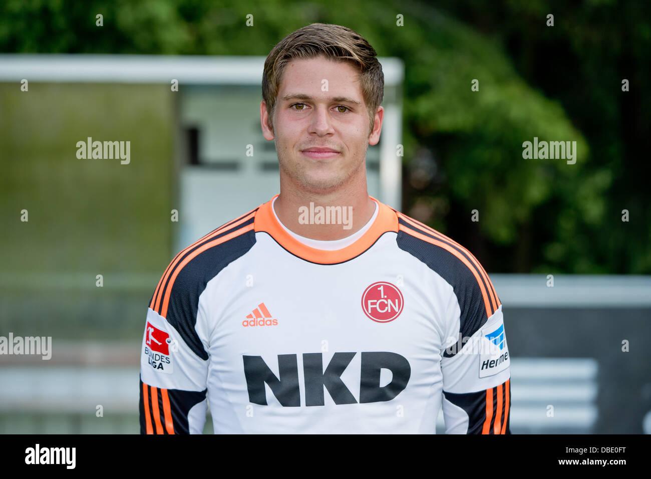 Goalie Patrick Rakovsky of German Bundesliga club 1. FC Nurnberg during the official photocall for the season 2013 - Stock Image