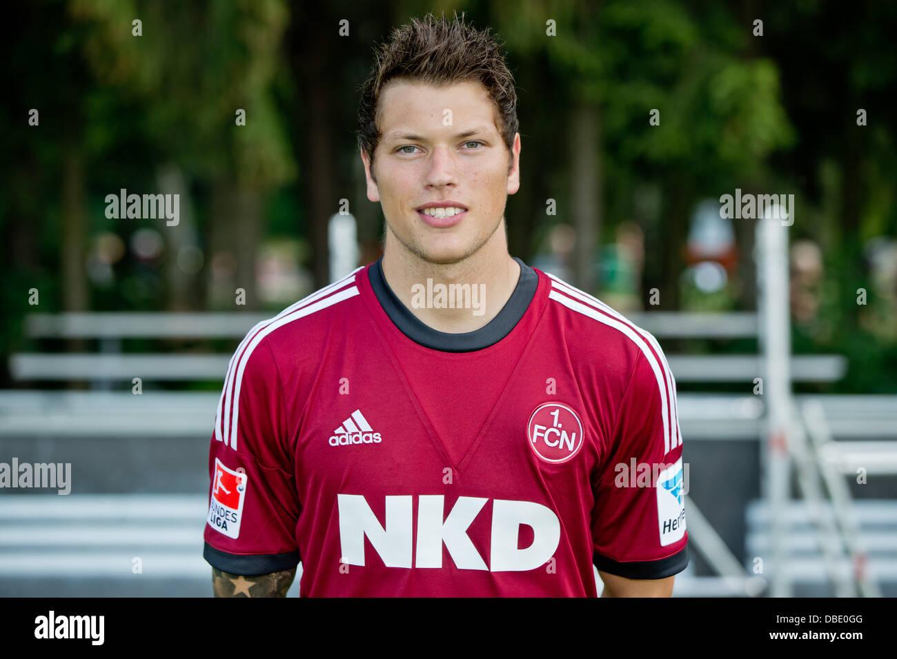Player Daniel Ginczek of German Bundesliga club 1. FC Nurnberg during the official photocall for the season 2013 - Stock Image