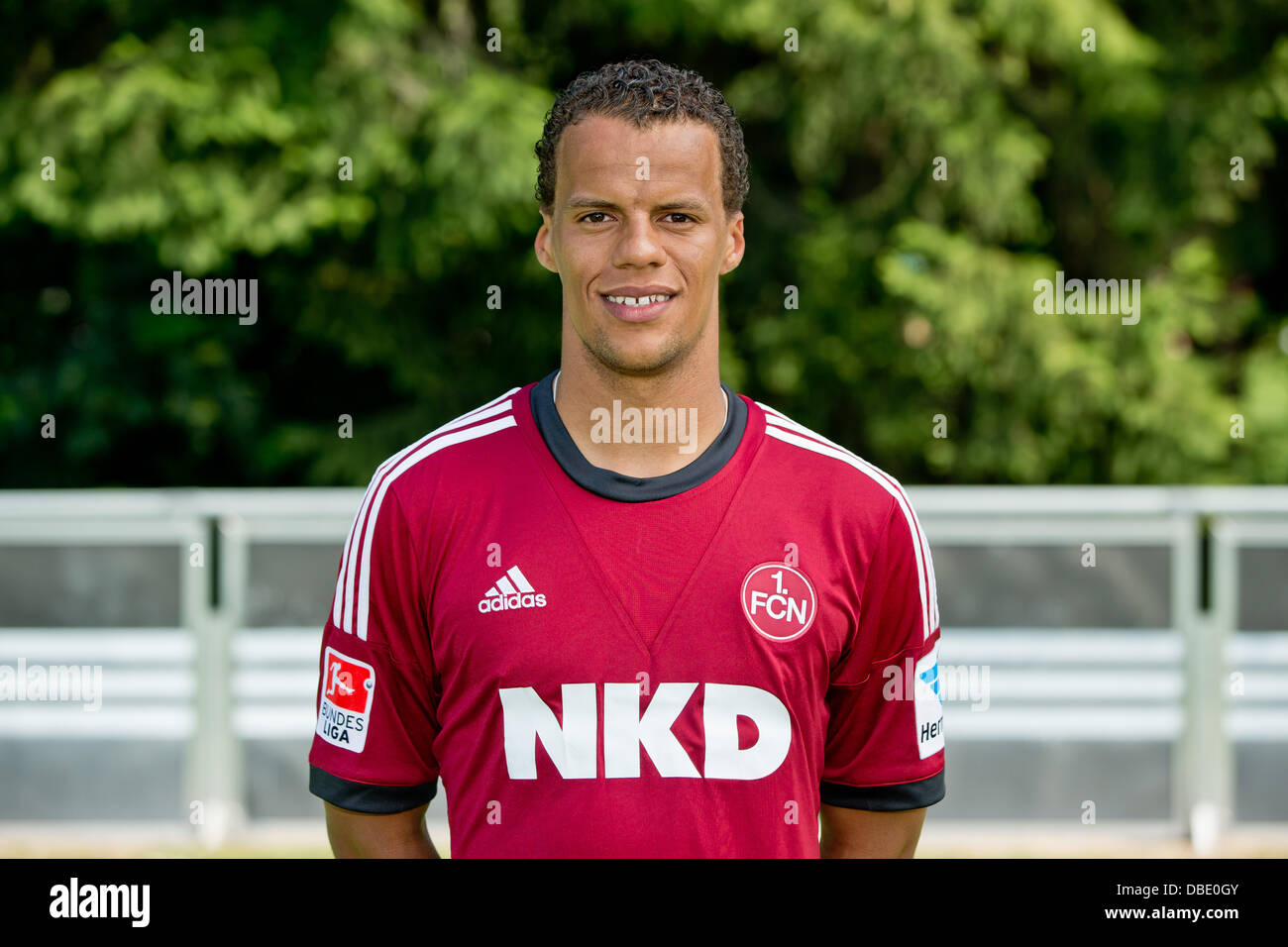 Player Timothy Chandler of German Bundesliga club 1. FC Nurnberg during the official photocall for the season 2013 - Stock Image
