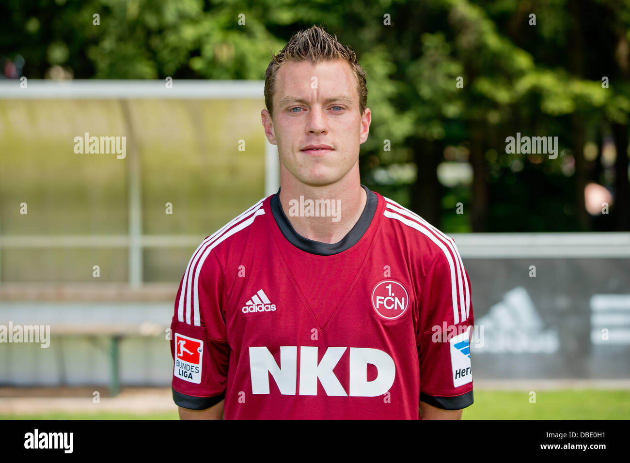 Player Hanno Balitsch of German Bundesliga club 1. FC Nurnberg during the official photocall for the season 2013 - Stock Image