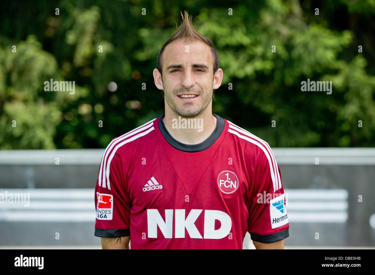 Player Javier Pinola of German Bundesliga club 1. FC Nurnberg during the official photocall for the season 2013 - Stock Image
