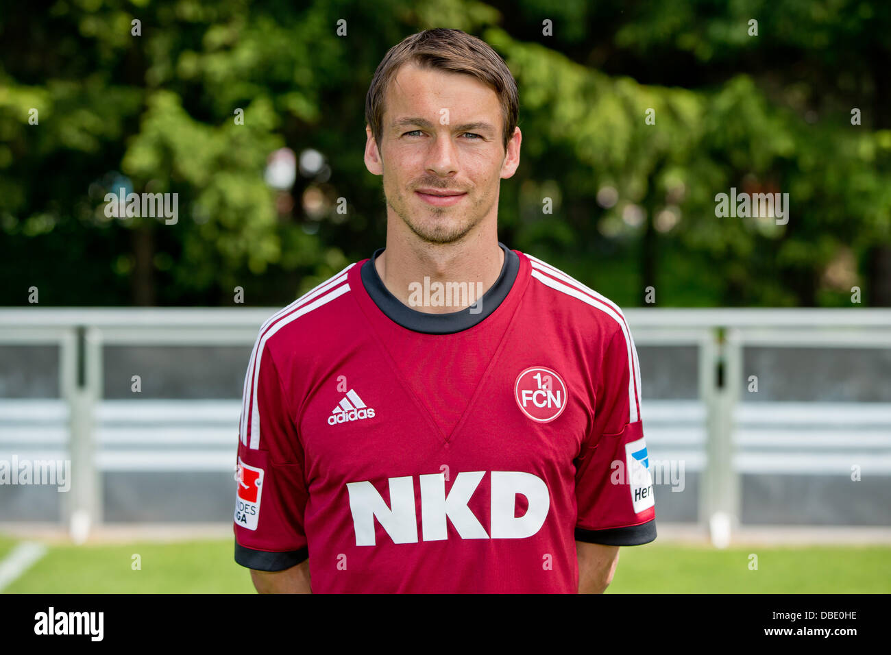 Player Markus Feulner of German Bundesliga club 1. FC Nurnberg during the official photocall for the season 2013 - Stock Image