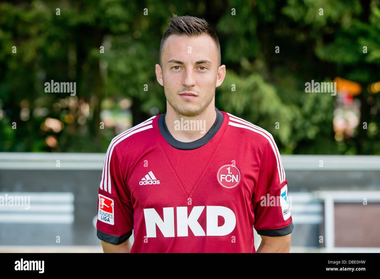 Player Josip Drmic of German Bundesliga club 1. FC Nurnberg during the official photocall for the season 2013-14 - Stock Image