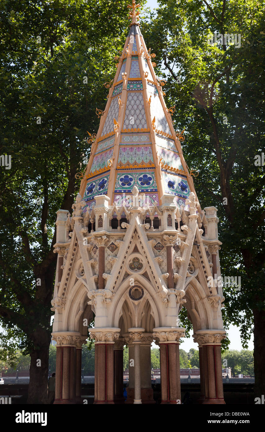 View of the Buxton Memorial Fountain  in the Victoria Tower Gardens, Millbank - Stock Image