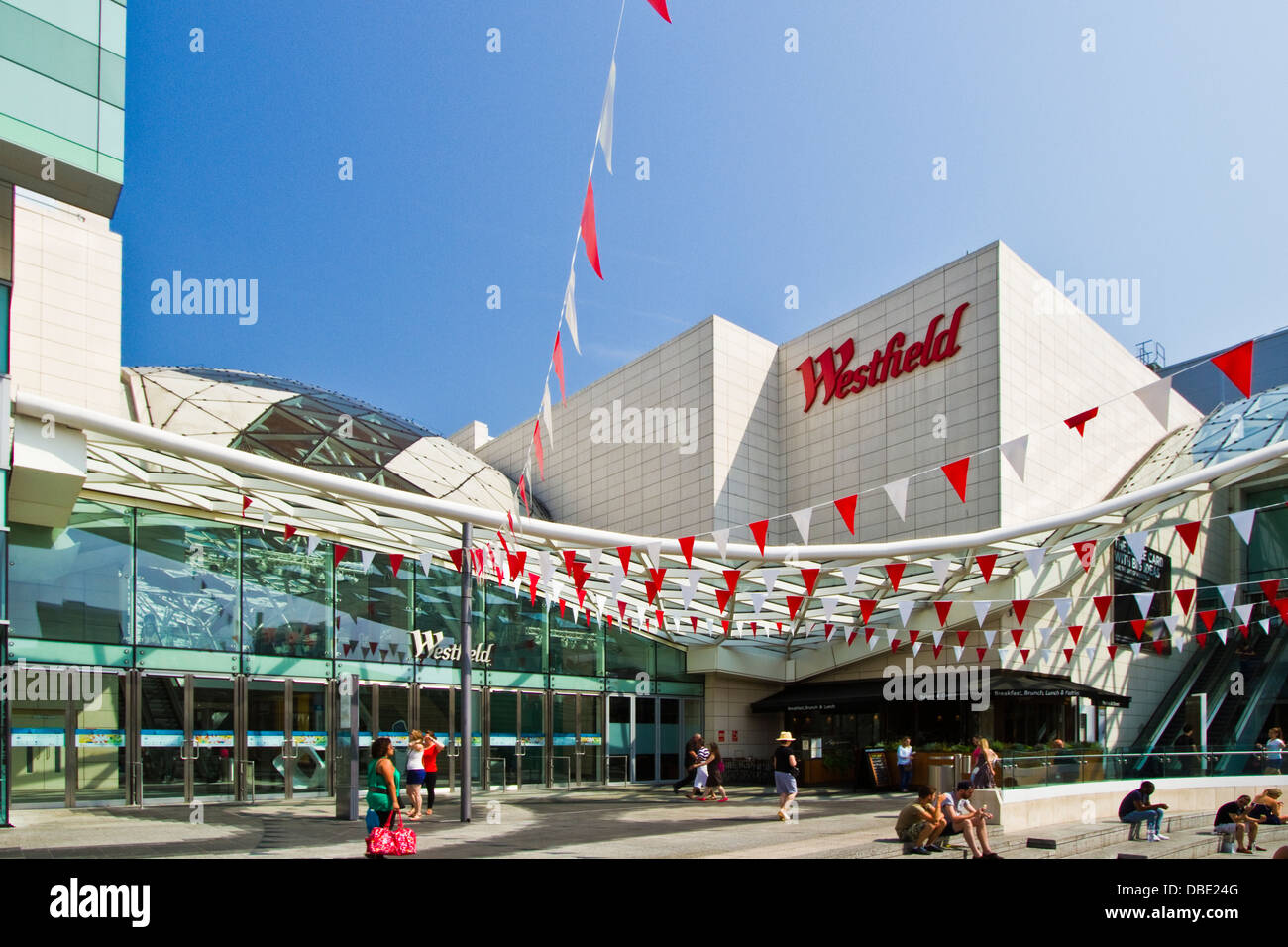 Westfield shopping centre at Shepherds Bush in the Borough of Hammersmith&Fulham, London - Stock Image