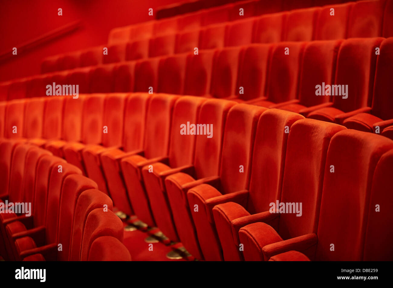 cinema seating Stock Photo