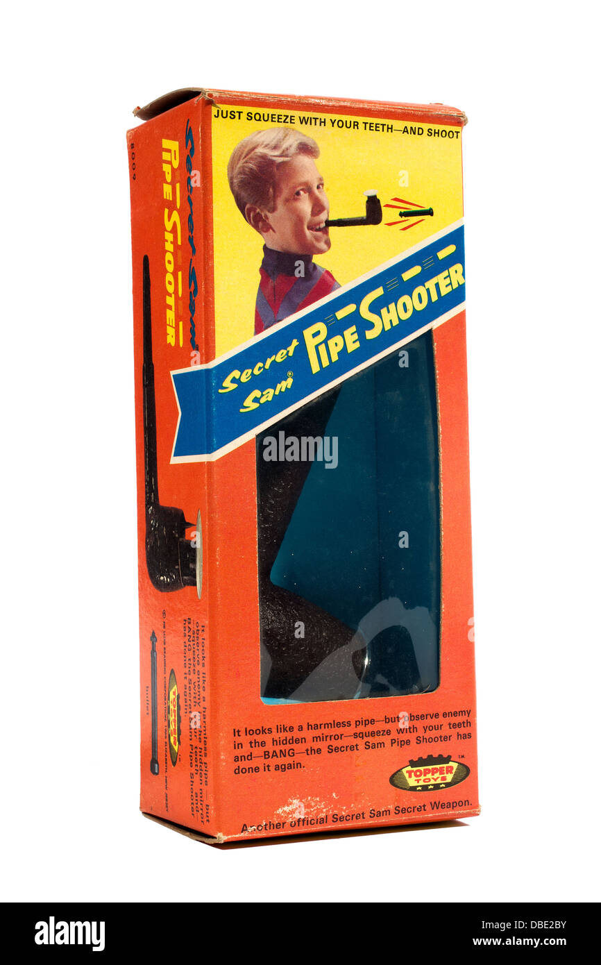 Secret Sam Pipe Shooter Toy from the nineteen sixties - Stock Image