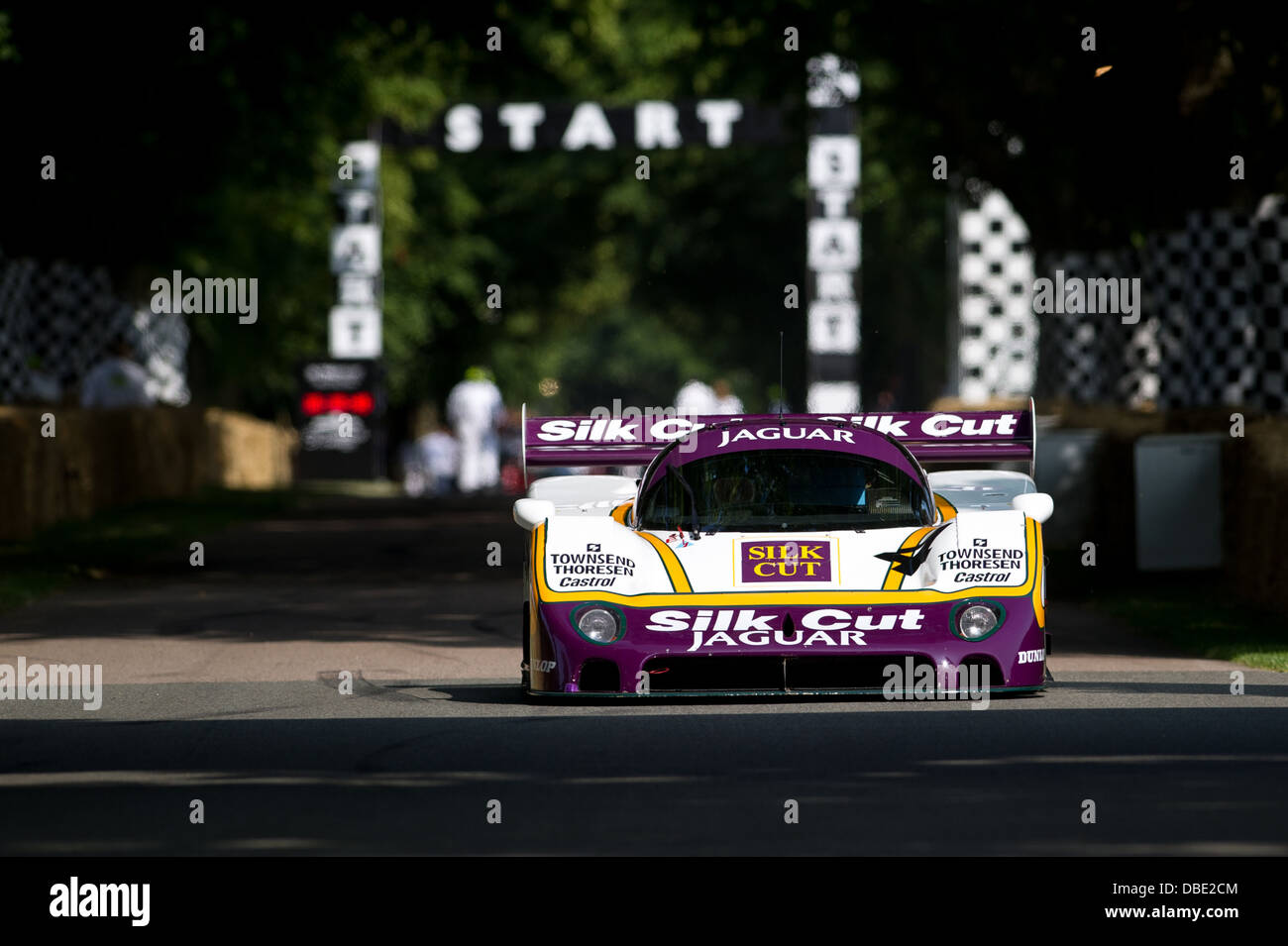 Chichester, UK - July 2013: Jaguar XJR8/9 in action at the Goodwood Festival of Speed on July 12, 2013. - Stock Image