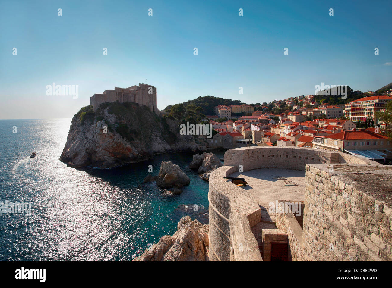 Old town of Dubrovnik. Adriatic Sea. Croatia. Europe. - Stock Image