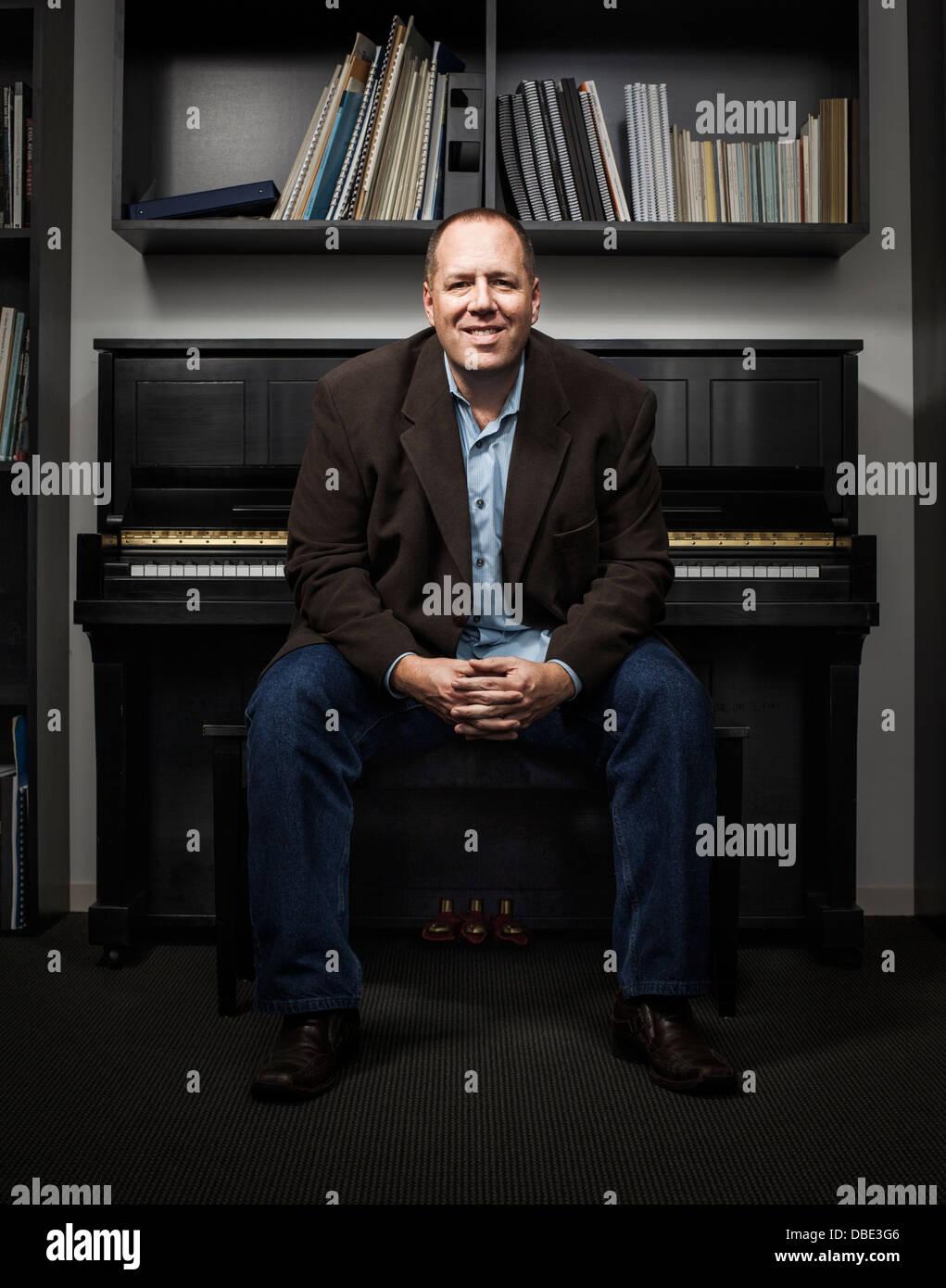 Imagem Music office in New York city, NY. Stock Photo