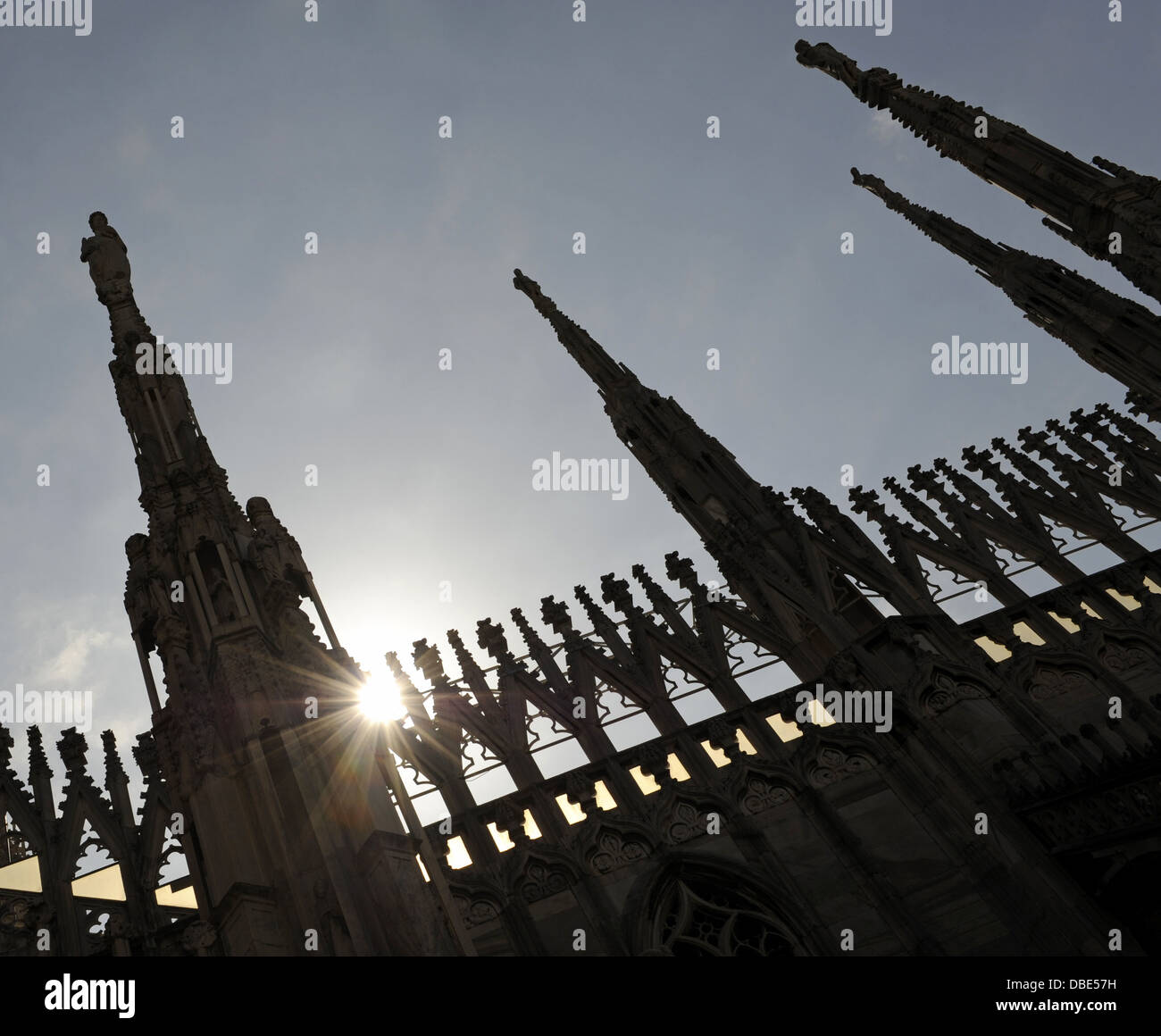 Italy. Milan. Cathedral. Gothic. 14th century. Exterior. Detail. - Stock Image