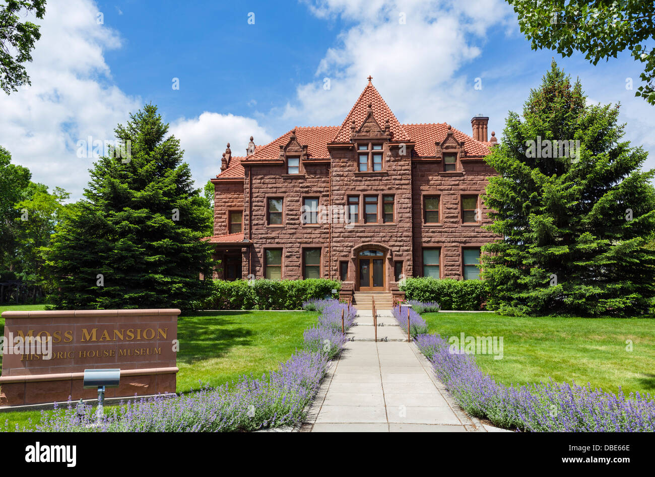 Moss Mansion Historic House Museum, Division Street, Billings, Montana, USA - Stock Image