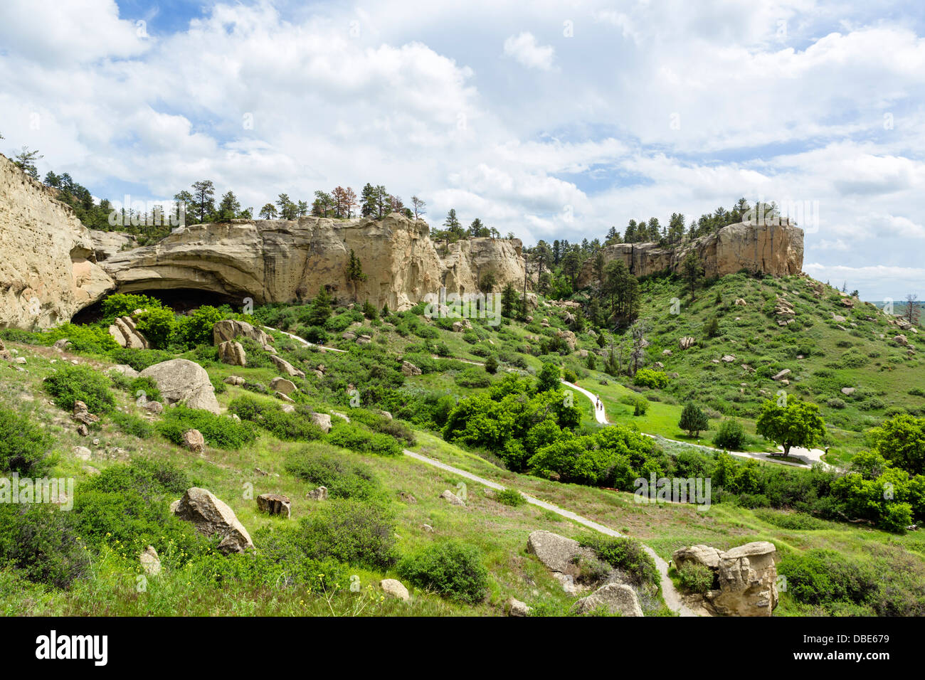 Pictograph Cave State Park, Billings, Montana, USA - Stock Image