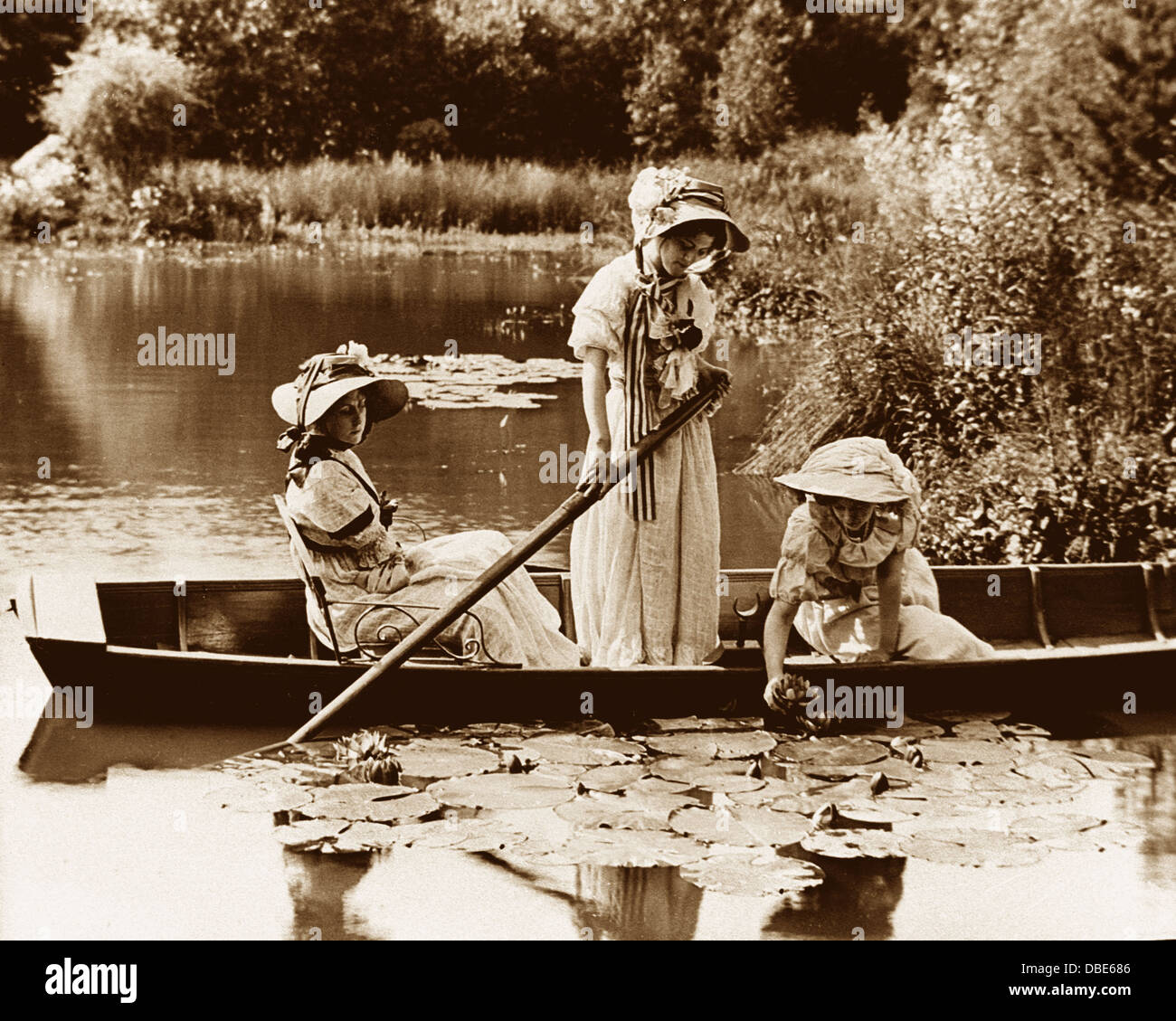 A Summer's Day Victorian period - Stock Image