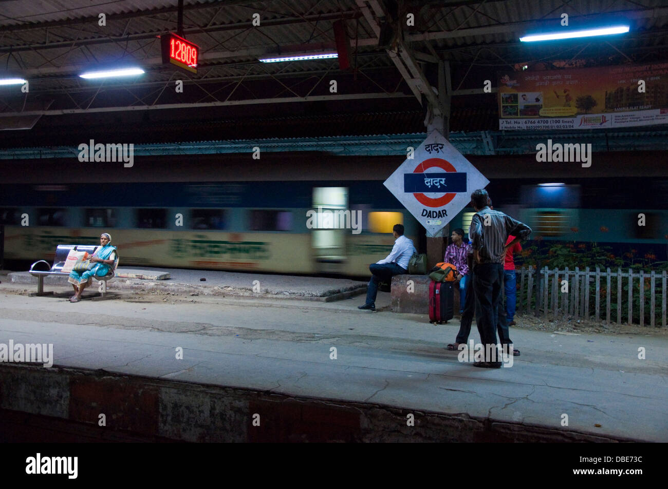 Dadar railway station Stock Photo