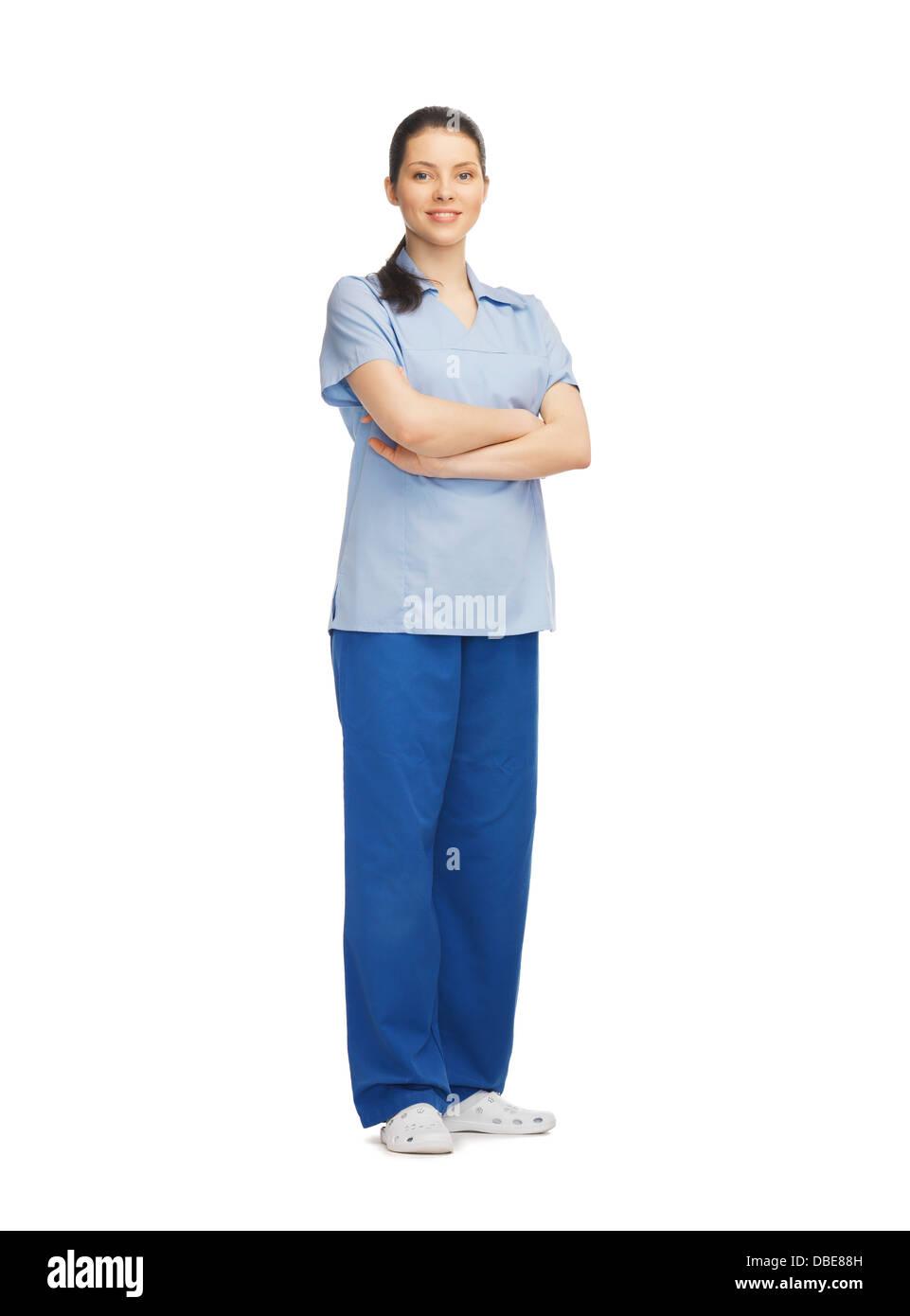 smiling female doctor - Stock Image