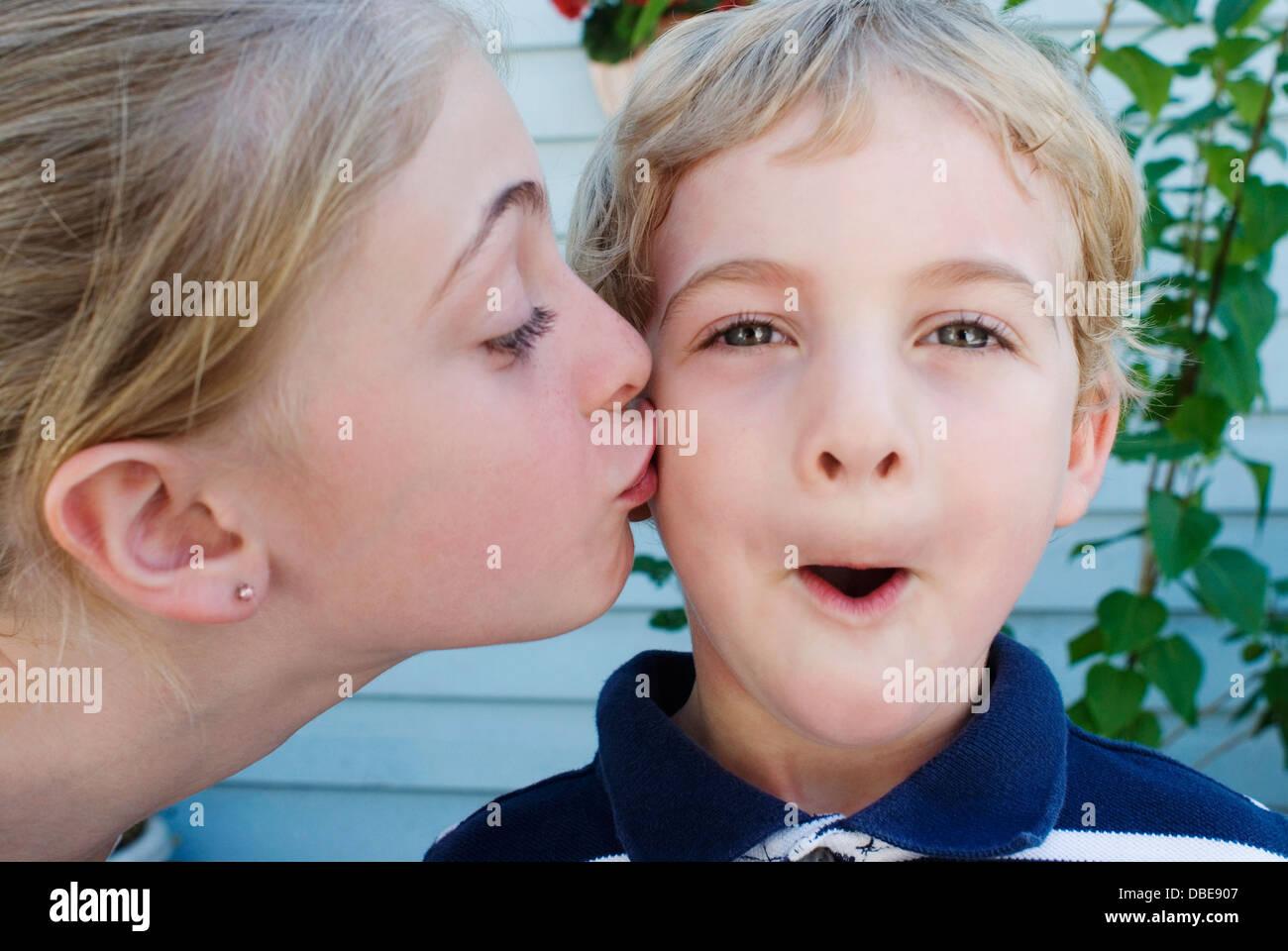 Boy Girl Kiss Children Stock Photos  Boy Girl Kiss Children Stock Images - Alamy-9489