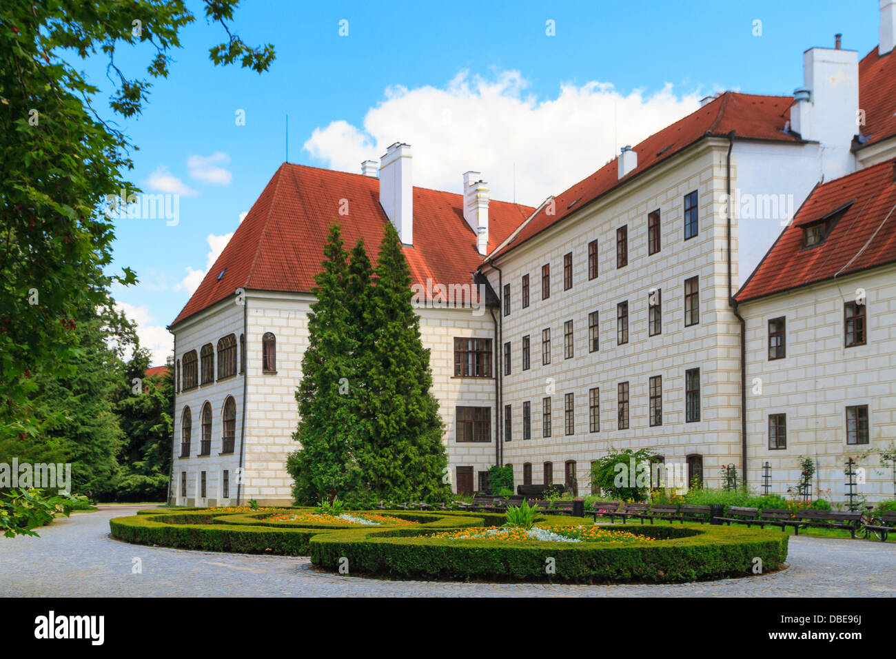 Trebon (Wittingau) Renaissance Castle (Zamek Trebon), Czech Republic - Stock Image