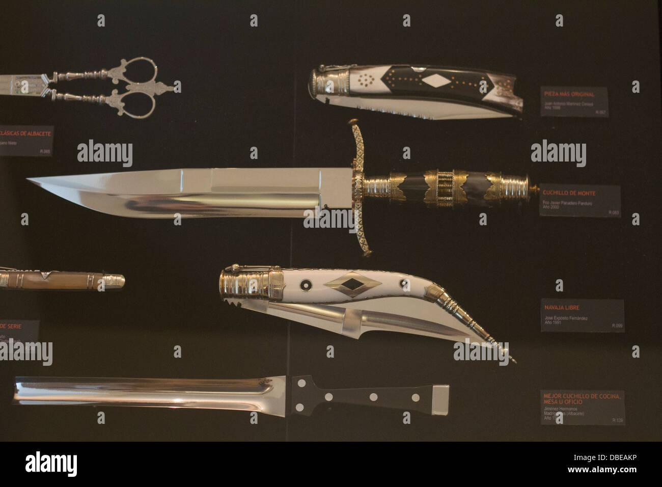 Pocket knife's museum in Albacete, Castilla La Mancha, Spain. - Stock Image
