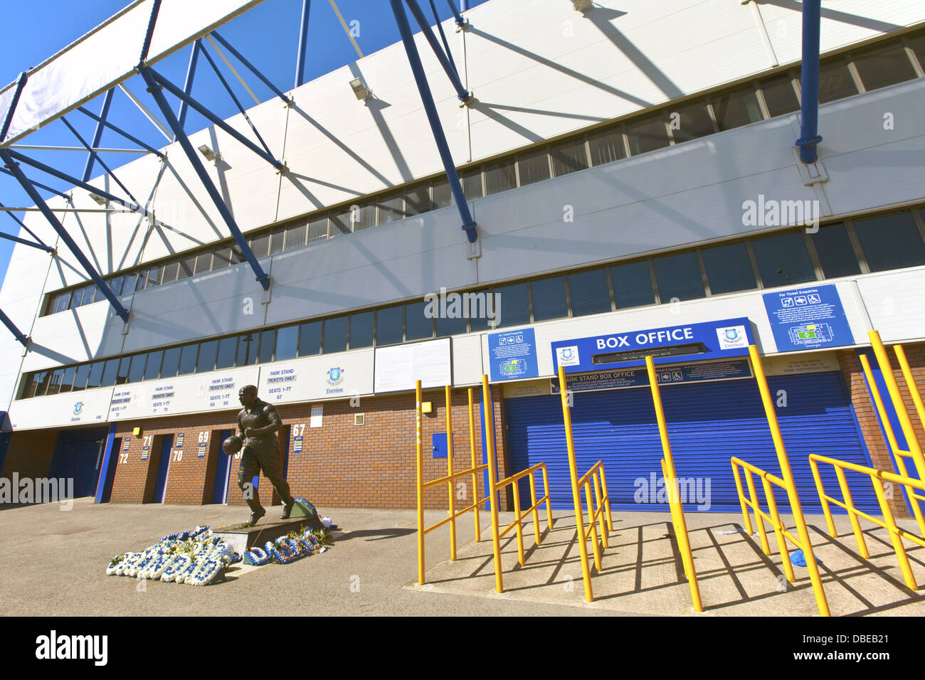 Goodison Park is home of Everton Football Club an English Premier League football club based in Liverpool. Stock Photo