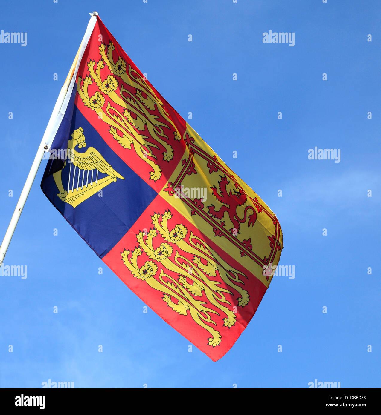 Royal Standard, Flag, England UK flags - Stock Image