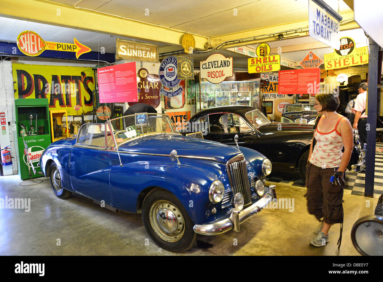 The Cotswold Motoring Museum & Toy Collection, The Old Mill, Bourton-on-the-Water, Gloucestershire, England, - Stock Image