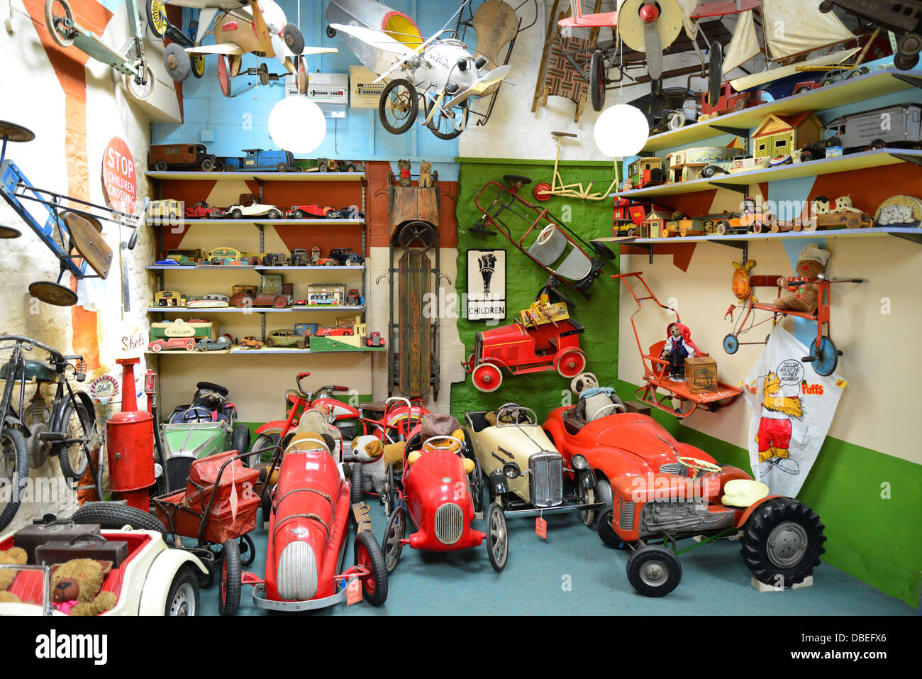 Vintage Toys At The Cotswold Motoring Museum Toy Collection Stock