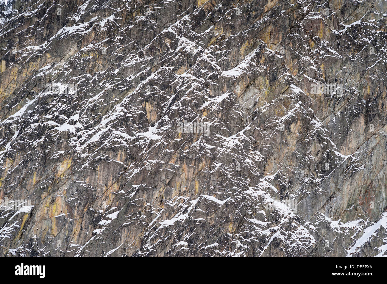 abtract structure in winter mountains, detail - Stock Image
