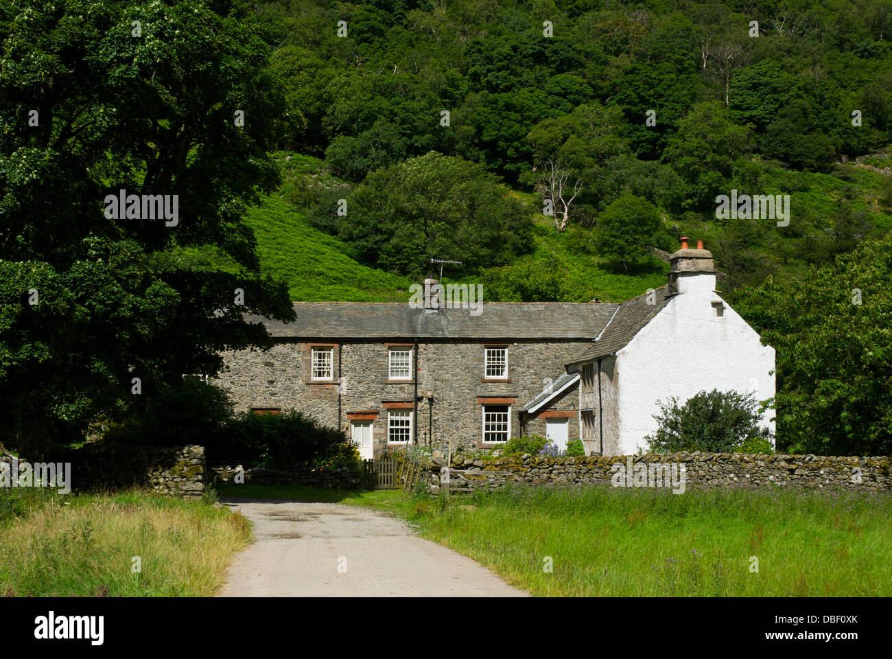 Hartsop Hall, a farmhouse near Brotherswater, Lake District National Park, Cumbria, England UK - Stock Image