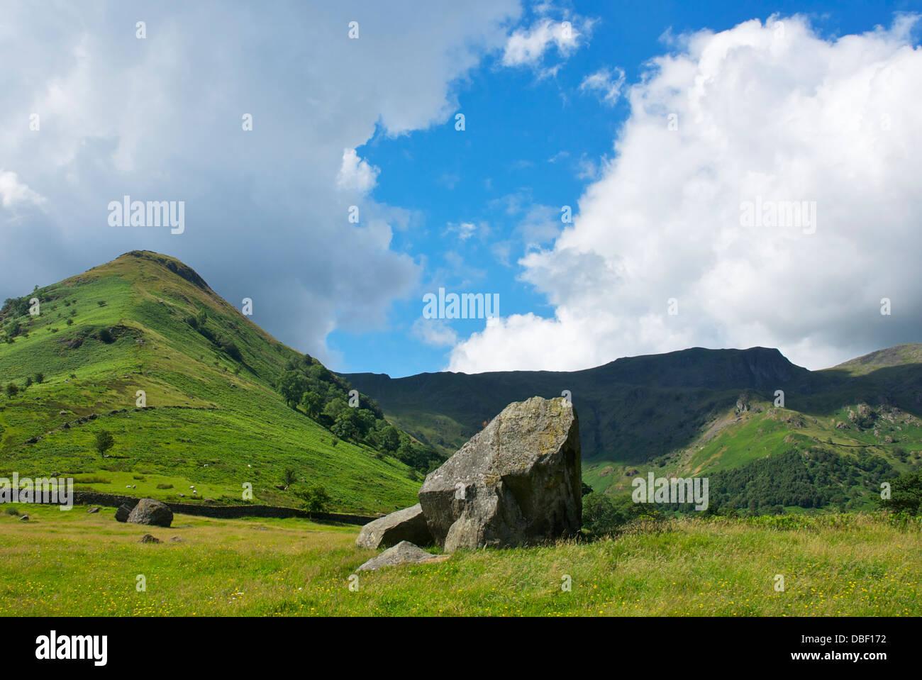 High Hartsop Dodd and Dovedale Crag, near Hartsop, Lake District National Park, Cumbria, England UK - Stock Image