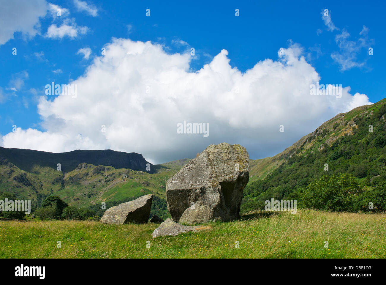 Dovedale and Dove Crag, near Hartsop, Lake District National Park, Cumbria, England UK - Stock Image