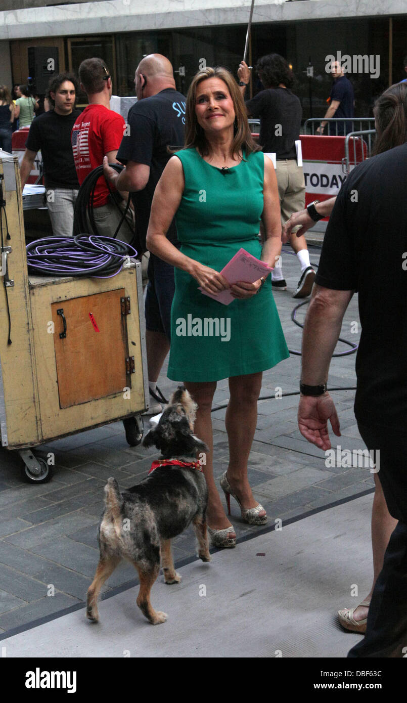 Meredith Vieira and her dog Jasper The 'Today Show' salutes Meredith Vieira's Last Day with NBC Network New York Stock Photo