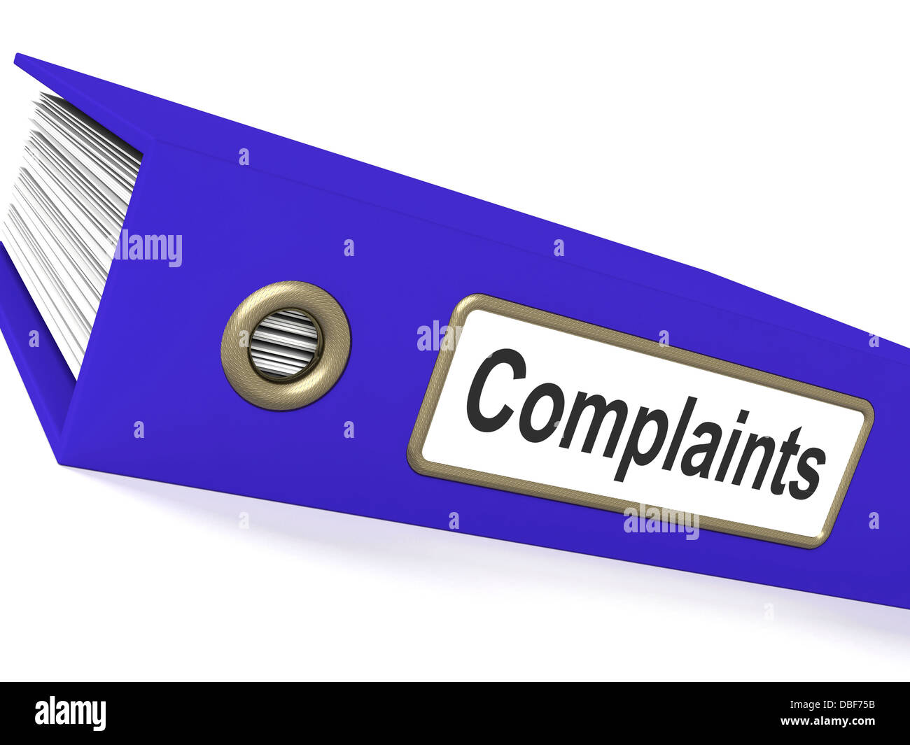 Complaints File Shows Complaint Reports And Records - Stock Image