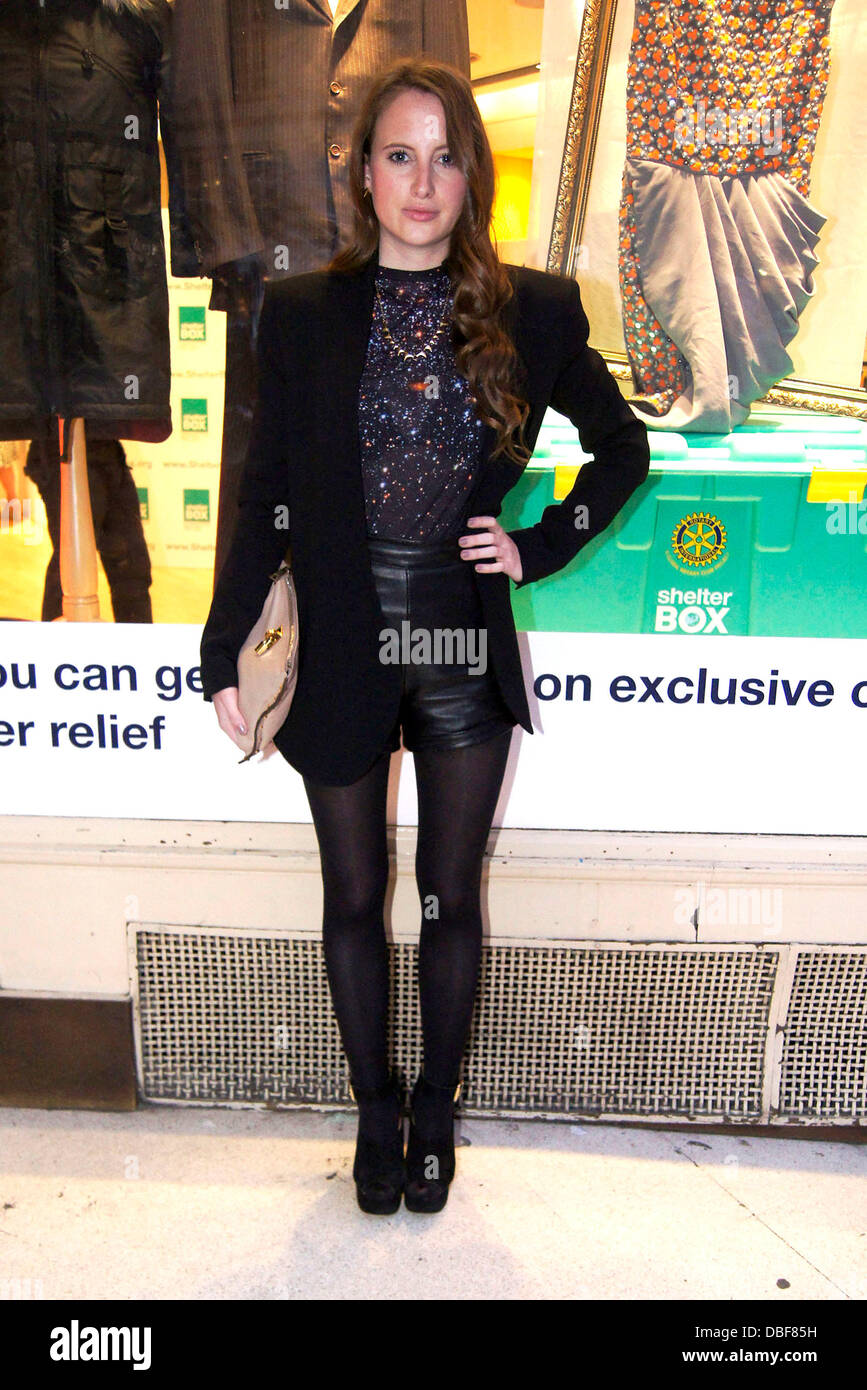 Rosie Fortescue ShelterBox pop-up shop launch on Regent Street London, England - 09.06.11 - Stock Image