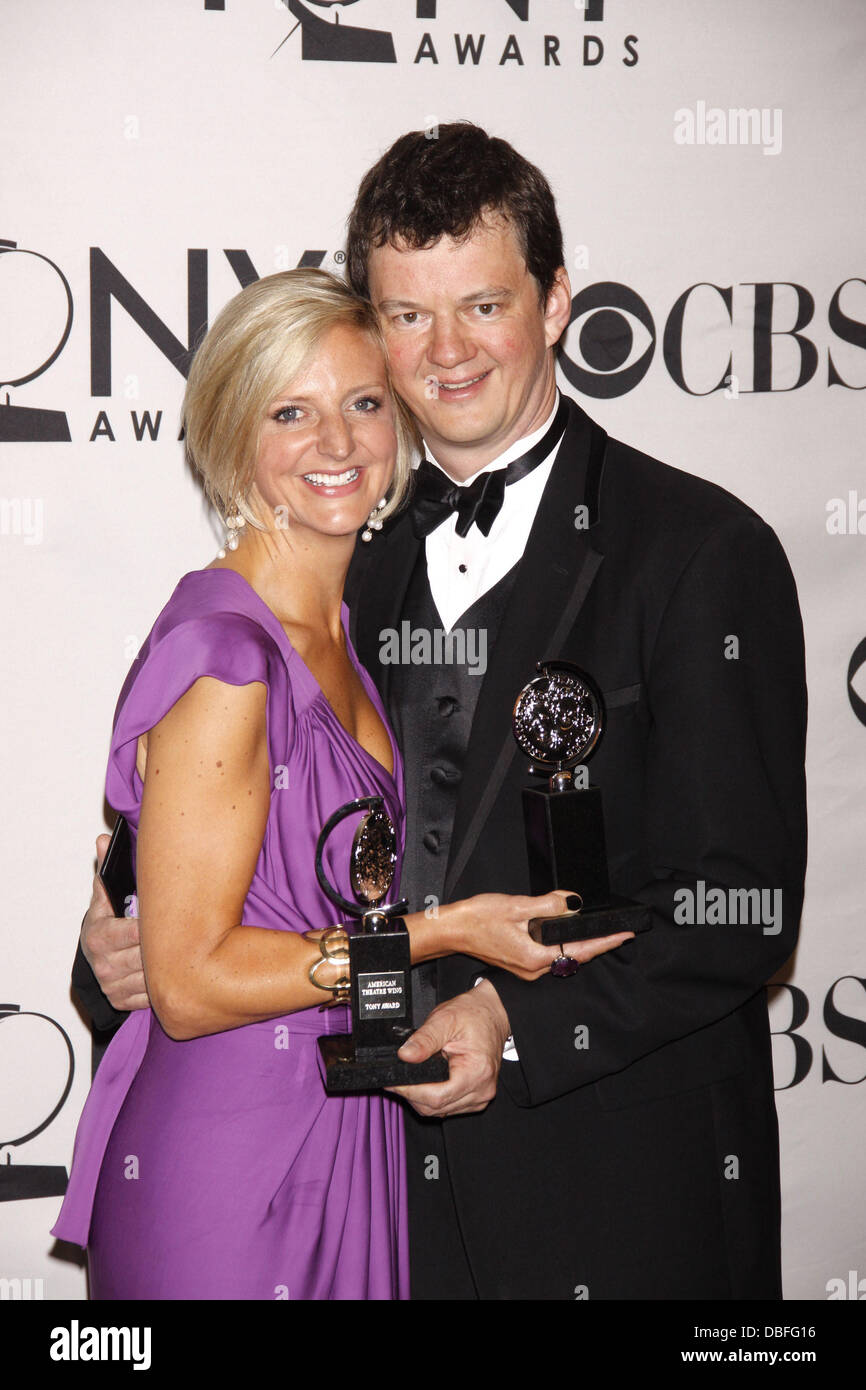 Marianne Elliott and Tom Morris The 65th Annual Tony Awards, held at Beacon Theatre - Press Room New York City, - Stock Image