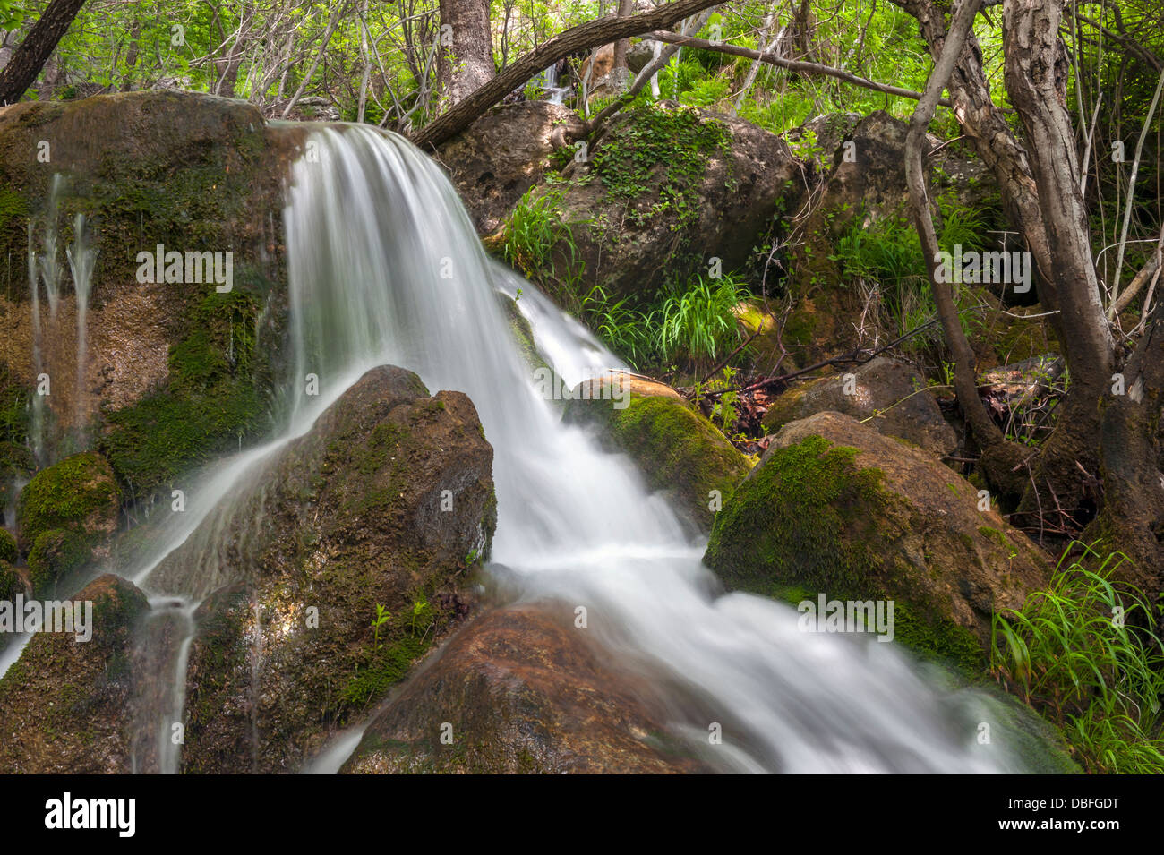Scenic view of Obruk waterfalls Kozan Adana Turkey - Stock Image