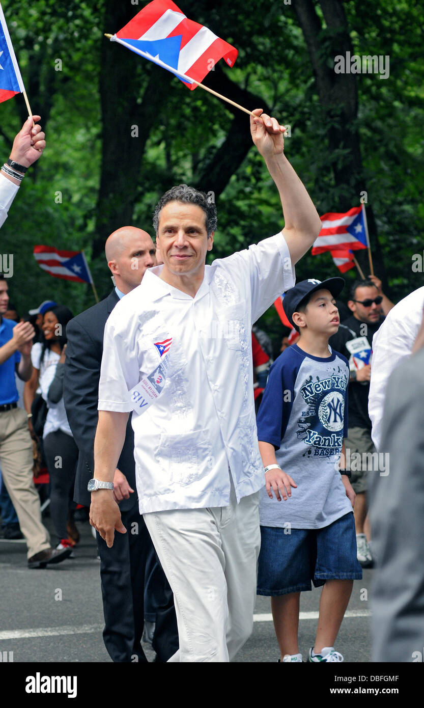 Andrew Cuomo 2011 National Puerto Rican Day Parade New York City, USA - 12.06.11 - Stock Image