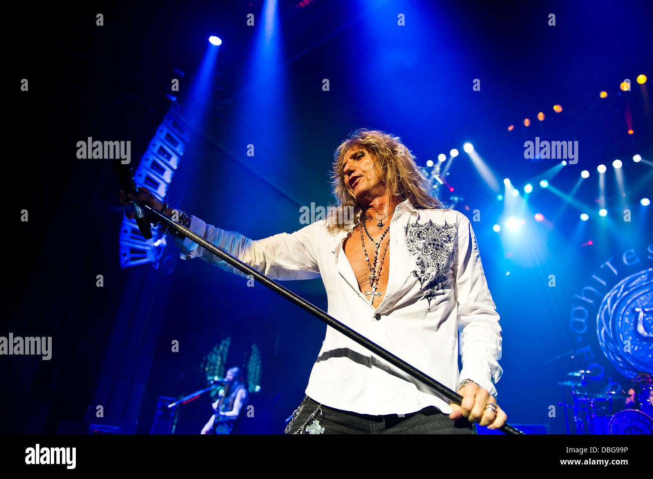 David Coverdale performing with Whitesnake at the HMV