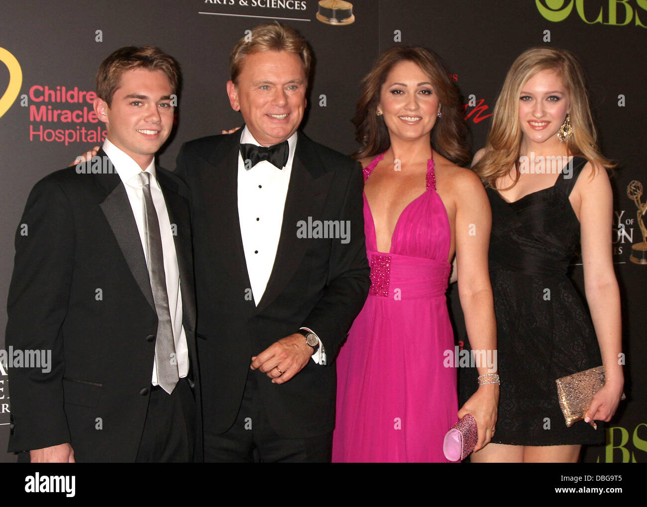 Pat Sajak and family, arriving at the Daytime Emmy Awards ...