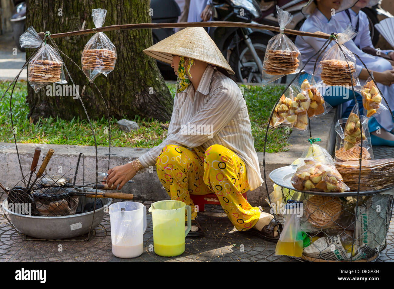 Saigon Street Food Stock Photo