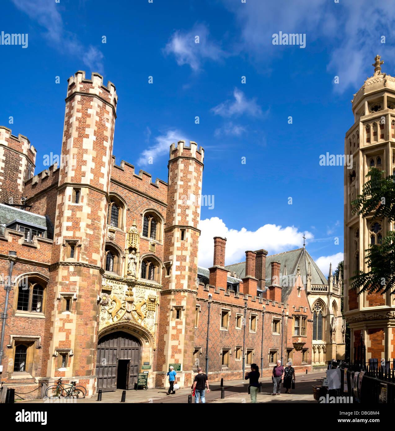 St John's College, part of the University of Cambridge, UK Stock Photo
