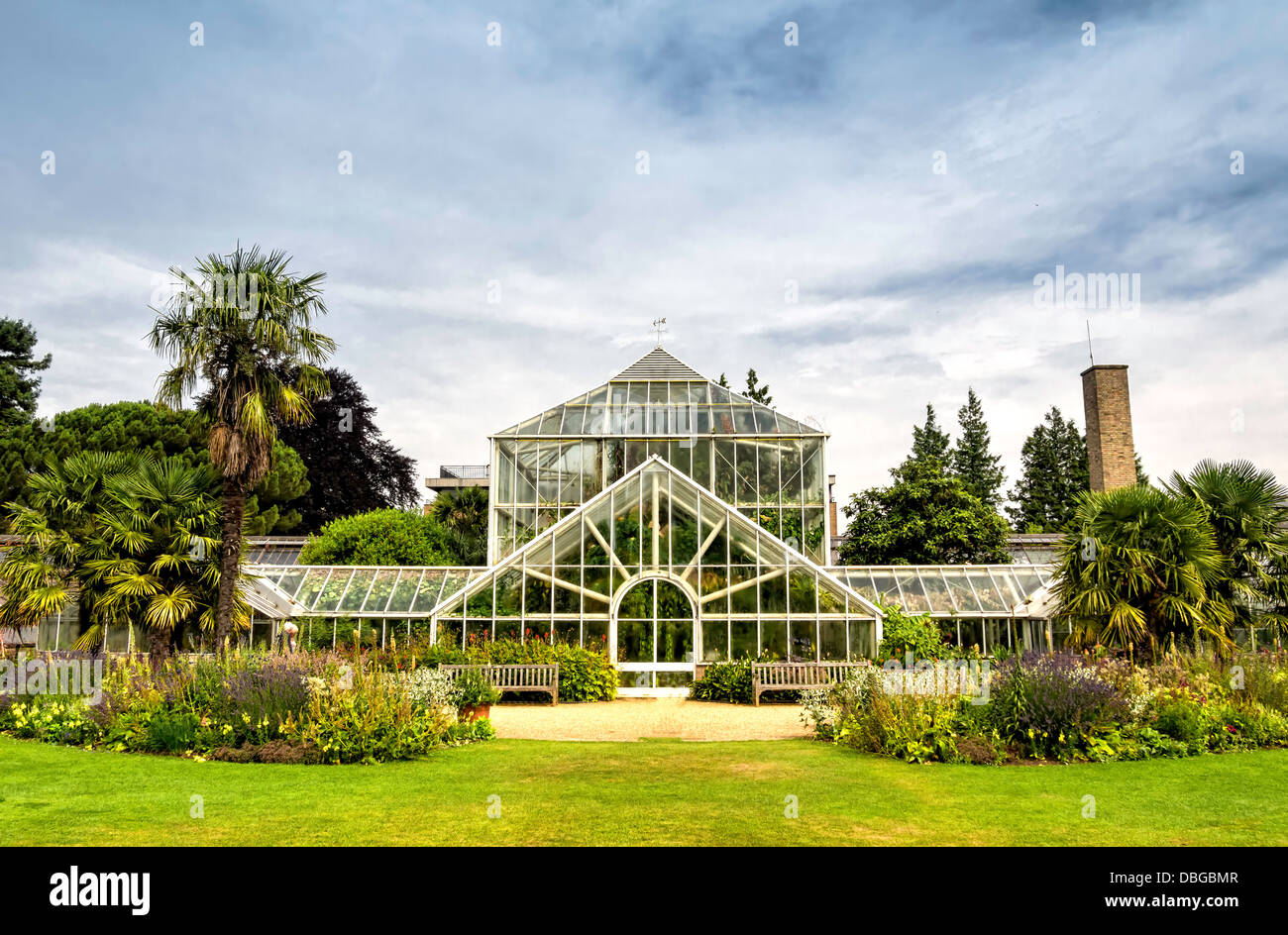 Botanic garden in Cambridge, England - Stock Image