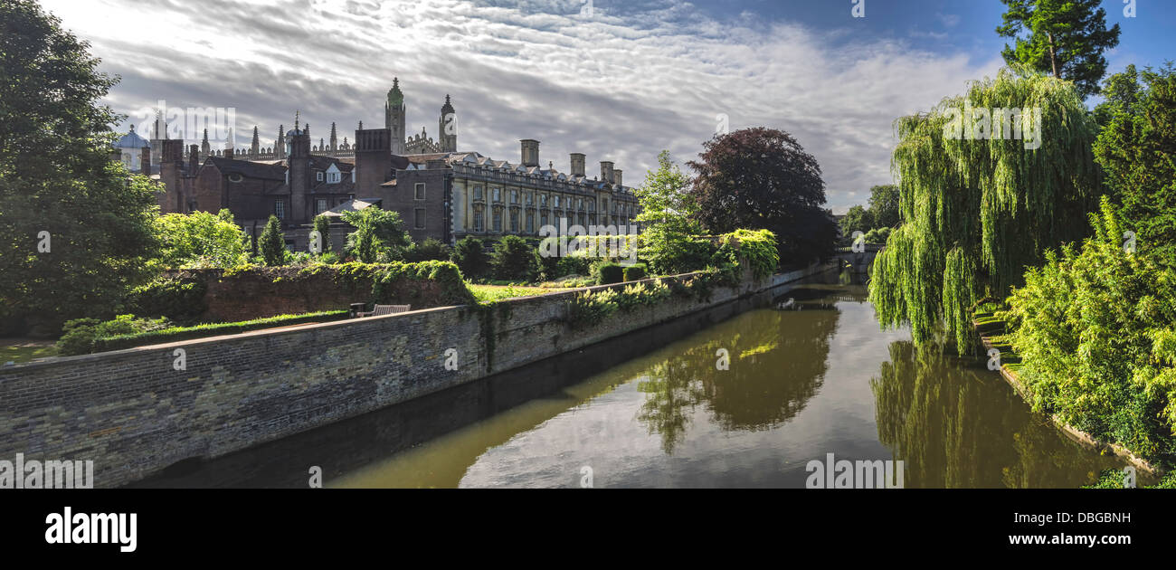 Kings college chapel from the backsite, Cambridge, UK - Stock Image