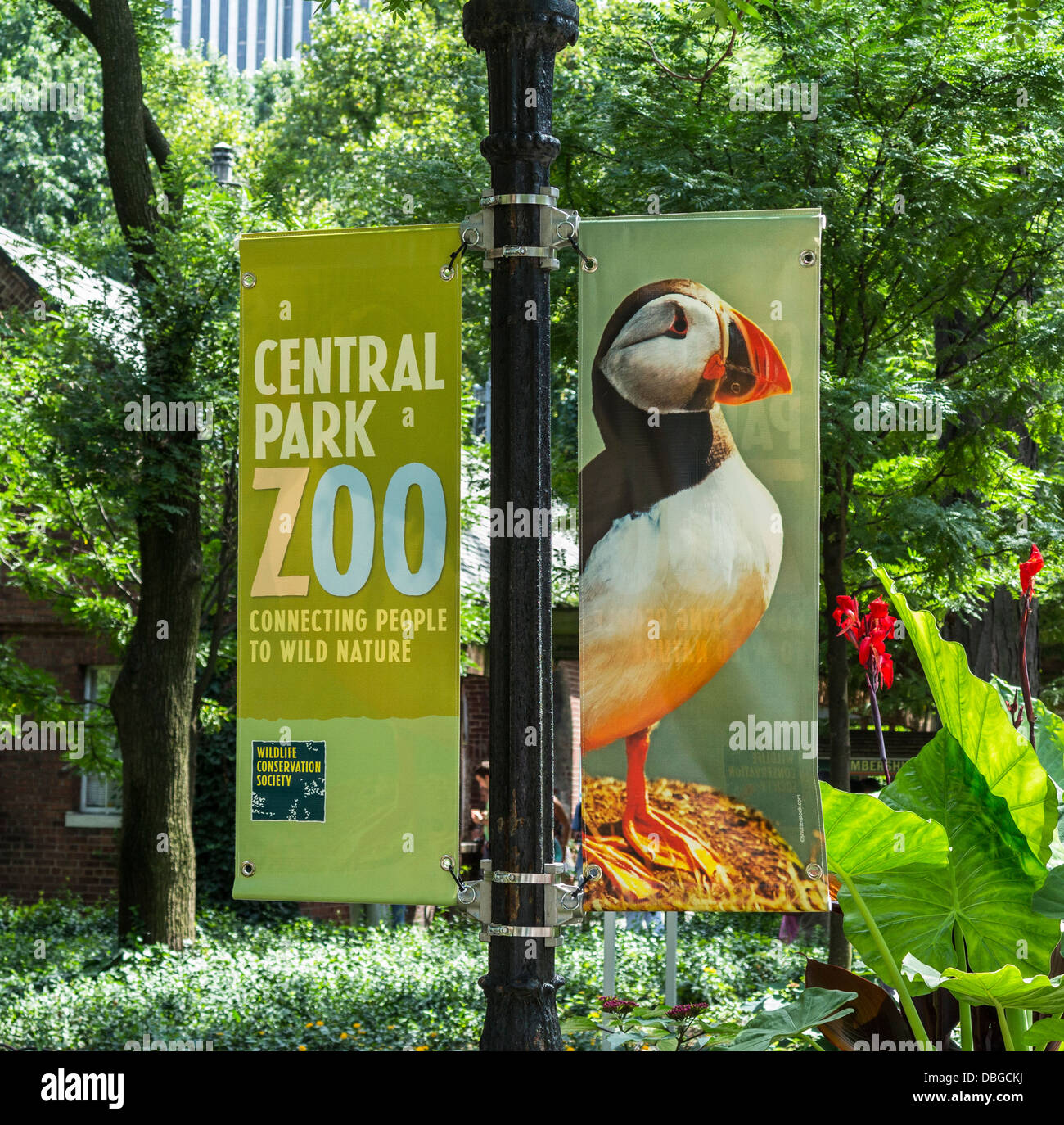 Sign for Central Park Zoo - Stock Image