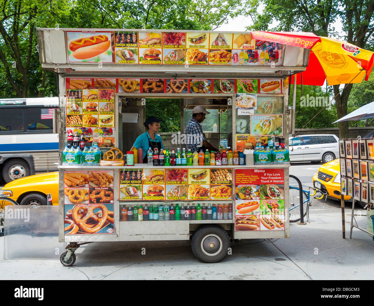 Traditional New York Street Food Van Truck Stand New York City