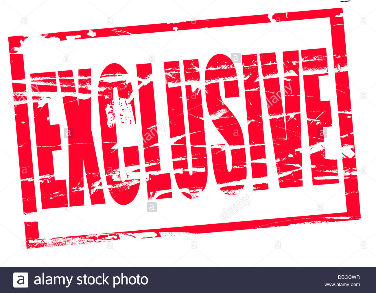 Digital composite Red Rubber stamp effect - Exclusive - Stock Image