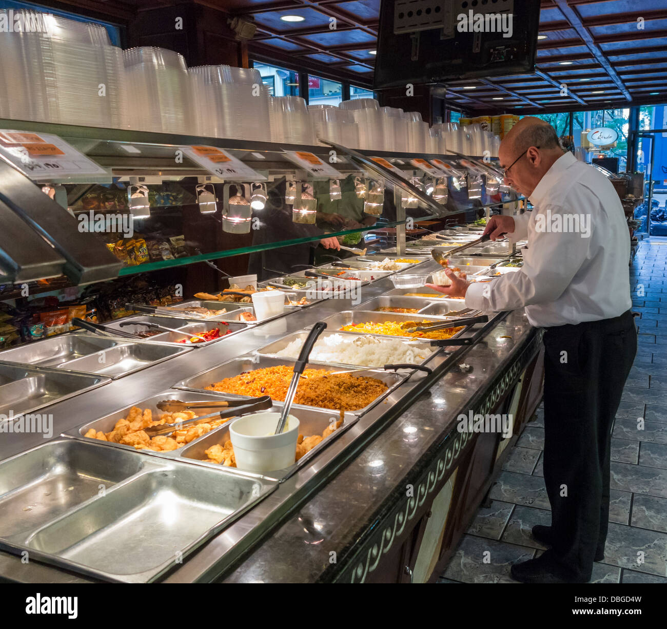 A takeaway deli shop in New York City - Stock Image