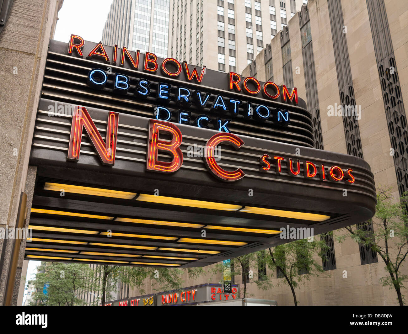 NBC Studios at the Rockerfeller Centre, NYC - Stock Image